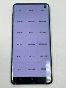 Samsung Galaxy S10 SM-G973 Prism White LCD Screen Digitizer Housing/LCD