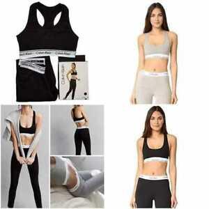 Calvin Klein Women's Leggings and Modern Cotton Bralette Set