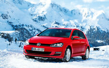 """RED VOLKSWAGEN GOLF 2013 A4 POSTER GLOSS PRINT LAMINATED 11.7""""x7.3"""""""