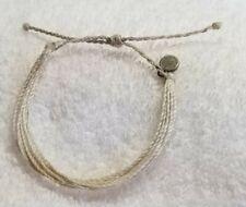 Pura vida White  bracelet silver charm