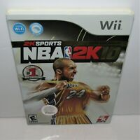 NBA 2K10 (Nintendo Wii, 2009) Complete with Slipcover Tested & Working