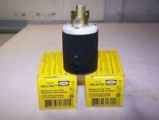 2) NEW HUBBELL TWIST-LOCK INSULGRIP 2-P 3-W GROUNDING PLUG HBL4720C LOT OF 2
