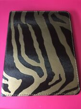Gold Zebra FLIP CASE FOLD STAND CASE WITH SMART COVER FOR APPLE IPAD 2/3/4