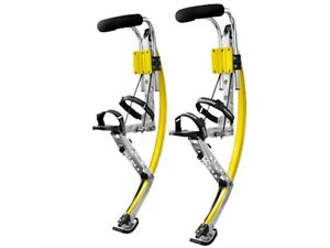 Men Kangaroo Bouncing Shoes Jumping Stilts  FitnessExercise 200-242lb Lbs Yellow