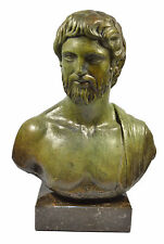 Asclepius Bronze statue bust God of medicine and healing in Ancient Greece