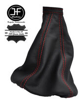 RED STITCHING FITS ALFA ROMEO MITO GEAR STICK GAITER 2008-2015 REAL LEATHER