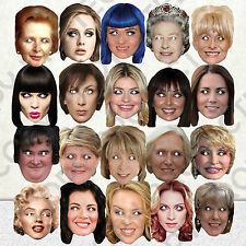 20 x CELEBRITY FACE PARTY MASK FUN DRESS STAG NIGHT BIRTHDAY MASKS #MP3 New