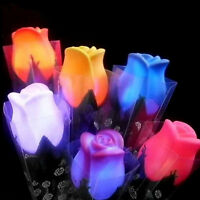 Rose LED Lights Flower Lamp Garden Yard Outdoor Path Lawn Power Xmas Decor New