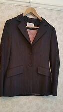 Next ladies pinstripe trouser suit UK 8 Long Darkest Grey jacket & trousers