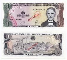 Dominican Republic, 1 Peso Oro 1978, Pick CS4-116a, aUNC/UNC, Specimen