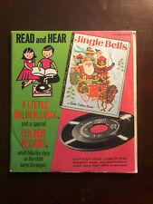 LITTLE GOLDEN BOOK JINGLE BELLS BOOK AND 45 RPM RECORD