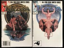 Edgar Rice Burroughs Tarzan of the Apes #1 & 2 Marvel 1984 Full Complete Series