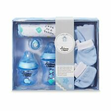 Tommee Tippee Gift Set Bottle Bib Soother Baby Boy New born