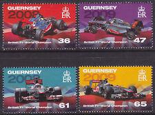 Guernsey 2011 campeones del mundo británica F1 (2nd) SG1401-4 Set um Gato £ 4.75
