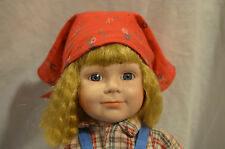 """William Tung Vintage Hand Crafted Porcelain Doll """"Sandy"""" 17' Tall #770 Of 1,000"""