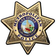 Las Vegas Metro (Officer) with your Badge # or P #  All Metal Sign.