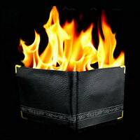 Magic Trick Flame Fire Wallet Leather Magician Stage Perform Street Prop Show O3