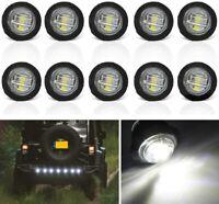 10x White 3 LED Side Clearance Marker Light Car Truck Trailer Indicator Lamp