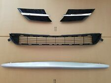 4PC Set 2013-2015 RAV4 Front Bumper Upper Middle Grille SET Lower Silver Molding