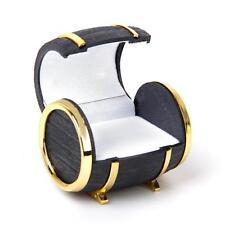 New Women Men Jewelry Beer Barrel Box Wedding Rings Earrings Display Case