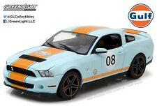 1:18 2012 Shelby GT500 Light Blue with Orange Stripes Greenlight