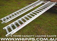 5 Tonne Capacity Excavator Loading Ramps 3.6 Metres x 450mm track width