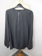 STUNNING LADIES COS GREY WOOL TUNIC TOP SIZE 38 UK 10-12 NEW