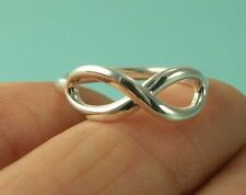 Tiffany & Co. Infinity Ring Size 7 3/4 Sterling Silver Band T & Co Jewelry 925