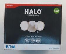 All-Pro Twin-Head White Outdoor Round LED Flood Light Item # FTR1740LW