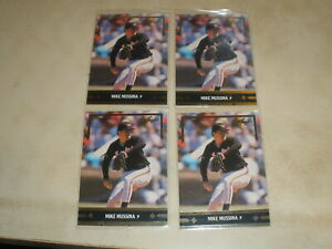 1991 Leaf Gold Leaf Rookies #BC12 Mike Mussina RC LOT OF 4