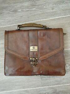 LOVELY CONKER BROWN 'CARLTON INTERNATIONAL ' SMALL BRIEFCASE VINTAGE BAG