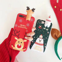 iPhone Xs Xr Max 8 7 Plus Case Cute Christmas Tree Reindeer Phone Covers