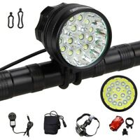 50000Lm LED Mountain Bike Headlight Bicycle Cycling Front Rear Lamp Rechargeable