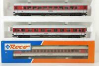 ROCO 44780 44785 44786 HO - GERMAN DB IC LIVERY 1st & 2nd EXPRESS COACH SET