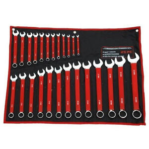 25 Piece Combination Spanner Set 6-32mm Metric Mechanics Durable Garage Tools