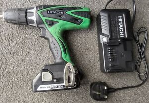 Hitachi 18v Cordless Impact Combi Drill Driver 2.5Ah Lithium Battery New Charger