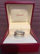 Baccarat Crystal Ring 18kt Gold Coxiage - Size 6