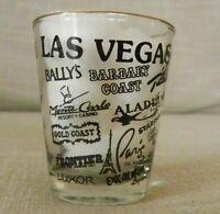 Vintage Las Vegas Shot Glass Barware 2 oz Casinos
