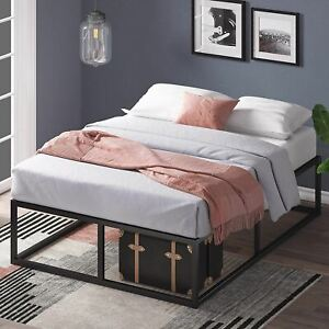 Zinus Joseph 14 Inch Metal Platforma Bed Frame / Mattress Foundation / Wood Slat