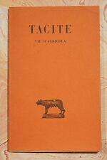 VIE D'AGRICOLA (1887T) - TACITE - STE EDITION LES BELLES LETTRES - 1948