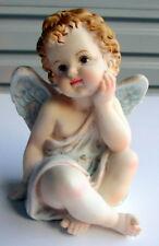 CERAMIC 12CM ANGEL CHERUB STATUE FIGURINE ORNAMENT BEDROOM OR NURSERY DECOR BNIB