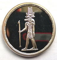 Egypt 1994 Crocodile God 5 Pounds Silver Coin,Proof