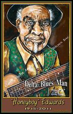 Honeyboy Edwards Delta Blues Man Poster by Cadillac Johnson