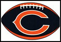 CHICAGO BEARS OVAL FOOTBALL NFL DECAL STICKER TEAM LOGO~BOGO 25% OFF
