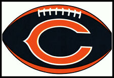 CHICAGO BEARS OVAL FOOTBALL NFL LICENSED TEAM LOGO INDOOR DECAL STICKER