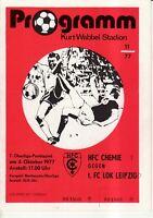 OL 77/78  HFC Chemie - 1. FC Lok Leipzig