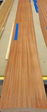 "Sapele Ribbon Mahogany wood veneer 8"" x 122"" raw with no backing 1/42"" thickness"