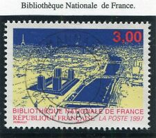 TIMBRE FRANCE OBLITERE N° 3041 BIBLIOTHEQUE NATIONALE DE FRANCE /