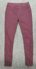 #998 Dorothy Perkins Ladies Burgundy Stretchy Pants Leggings, UK 10 Regular