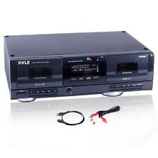 DUAL STEREO CASSETTE DECK CONVERT TRANSFER TAPE MUSIC SONGS TO MP3 CONVERTER